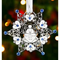 Bereavement Sympathy Memorial Snowflake Christmas Ornament Free Freight!