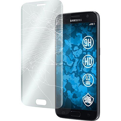 1 x Samsung Galaxy S7 Protection Film Tempered Glass clear full screen transparent - PhoneNatic Screen Protectors