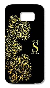 Samsung Galaxy S6 printed back covers from Print Opera – Gold Floral Elegant