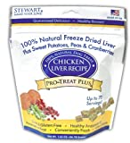Stewart's Pro-Treat Plus Freeze Dried Chicken Liver Plus Sweet Potato, Peas and Cranberries Treats for Dogs by MiracleCorp/Gimborn