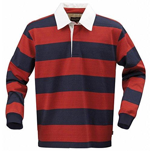 Raccolto Lakeport Maglietta da rugby Red/ Navy L