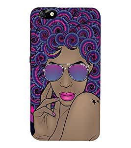Cool Girl 3D Hard Polycarbonate Designer Back Case Cover for Huawei Honor 4X :: Huawei Glory Play 4X