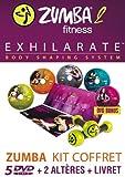 echange, troc ZUMBA - 2 - EXHILARATE - Coffret 5 DVD+ 2 Haltères + 1 Livret - Version Française