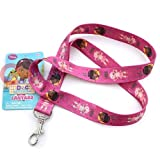 Disney Jr. Doc Mcstuffins Lanyard with Lambie Key Chian Id Holder