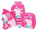 Peppa Pig 4 Piece Luggage Set Trolley Bag Backpack Gym Bag fastening Zip Coin Purse