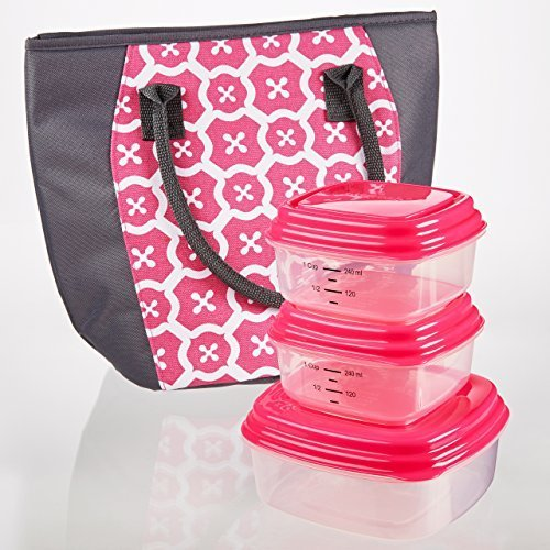 lakefield-insulated-lunch-bag-kit-with-reusable-container-set-and-ice-pack-pink-italian-tiles-by-fit