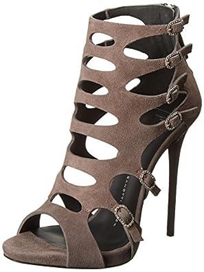 Giuseppe Zanotti Women's Cutouts and Buckles High Heel Dress Sandal,Cam Malta,5 M US