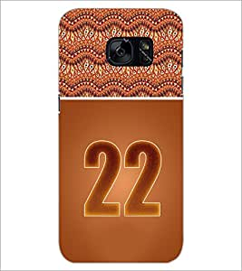 PrintDhaba Numerology Number 22 D-3657 Back Case Cover for SAMSUNG GALAXY S7 (Multi-Coloured)