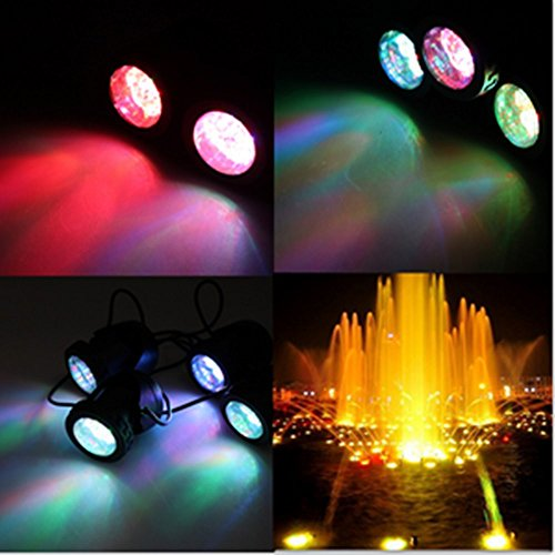 AGPtek 10 Led Lights 25W Great Underwater Fountain Pond Swimming Pool Led lights With Various Colors For Party & Special Occasions
