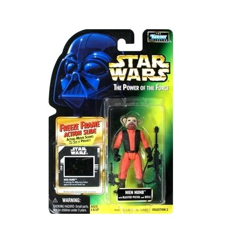 Star Wars: Power of the Force Freeze Frame Nien Nunb Action Figure