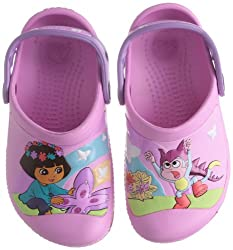 Crocs Girls CC Dora Butterfly Clogs and Mules