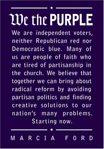 We The Purple Marcia Ford Independent Voters