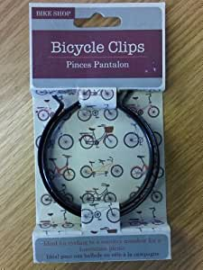 Bike Clips Bicycle Cycle Pair of Black Trouser Steel Cycling Clips