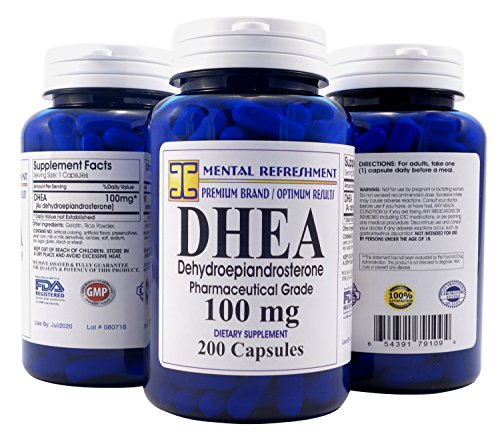 Mental-Refreshment-Nutrition-DHEA-100-mg-Dietary-Supplement-200-Capsule