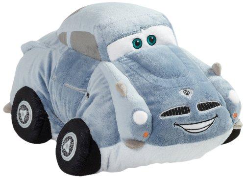 """Pillow Pets Authentic Disney-Cars 18"""" Finn McMissle, Folding Plush Pillow- Large"""