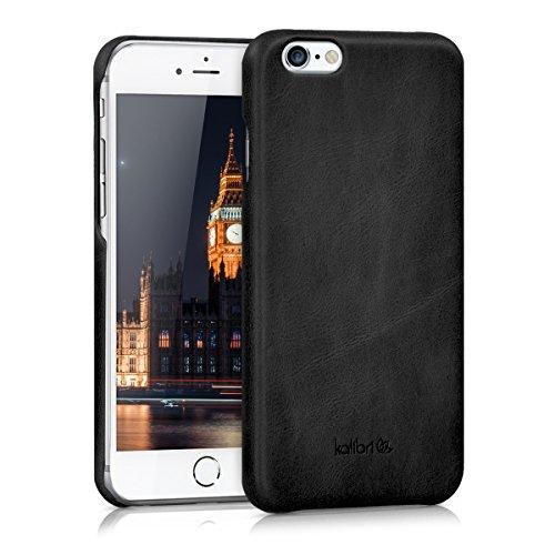kalibri-Echtleder-Backcover-Hlle-fr-Apple-iPhone-6-6S-Leder-Case-Cover-Schutzhlle-in-Schwarz