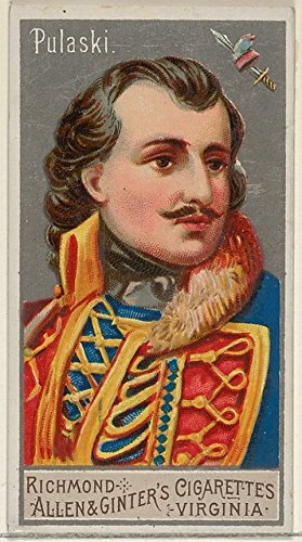 Casimir Pulaski from the Great Generals series for Allen & Ginter cigarettes