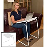 Evelots Adjustable Folding Laptop TV Dinner Table Great For Reading/Writing/Art