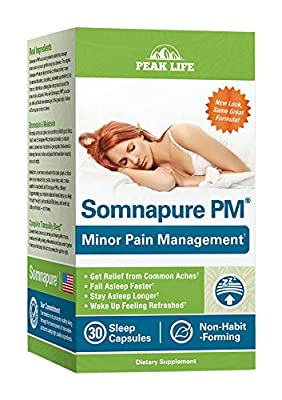 Peak Life Somnapure PM with Natural Relief from Minor Pain