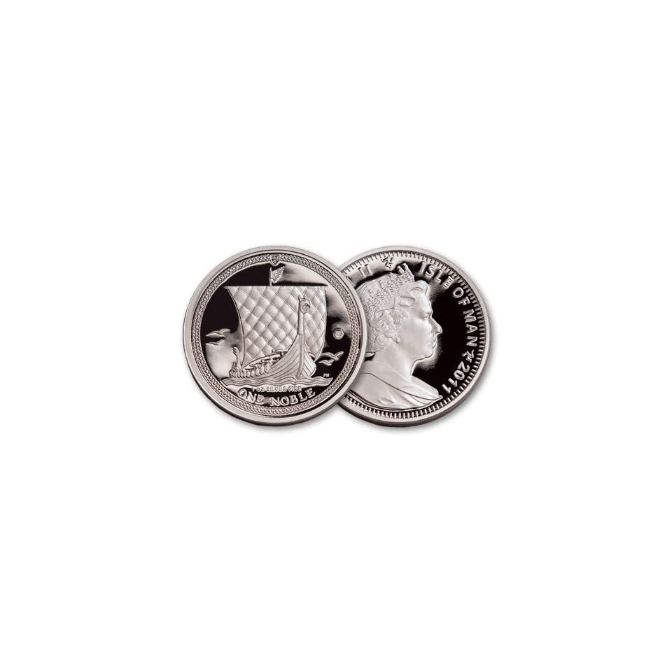 2011 Isle of Man First Year Viking Noble 1oz .999 Silver Coin w// COA
