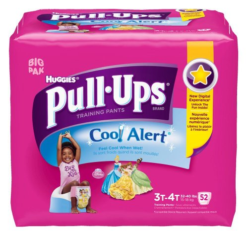 Huggies Pull-Ups Training Pants with Cool Alert, Girls, 3T-4T, 52 Count (Cool Alert Training Pants compare prices)