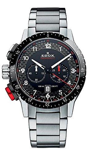 Unisex-reloj Chrono EDOX Rally{1} analógico de cuarzo de acero inoxidable 10305 3NRM NR
