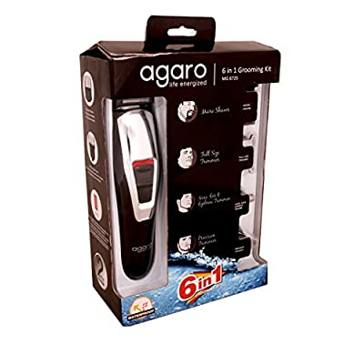 Agaro MG6725 6 in 1 Grooming Kit (White/Black)