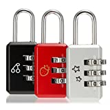 3pcs Digit Metal Combination Padlock Luggage Suitcase Password Travel Security Lock