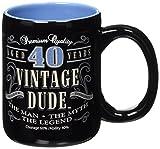 Laid Back CF11014 40th BD Vintage Dude Coffee Mug, 14-Ounce