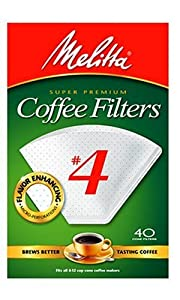 Melitta Cone Coffee Filters, White, No. 4, 40-Count Filters (Pack of 12) at Sears.com
