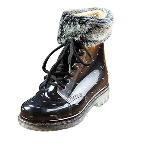 LaoZan Martin Stivali Impermeabile Moda e Eleganti per Donna - Colore10 - 35?Lunghezza del piede 21.6 - 22.0 CM)
