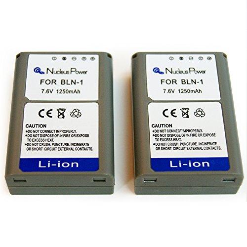 1年保証  2個セット  オリンパス BLN-1 互換バッテリー OLYMPUS OM-D E-M1/OM-D E-M5/PEN E-P5...Nucleus Power製 (バッテリー2個)