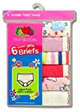 Fruit of the Loom Girls 2-6x Toddler 6 Pack Wardrobe Brief
