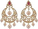 Violet & Purple Gold Plated Dangle & Drop Earrings For Women (1000031056)