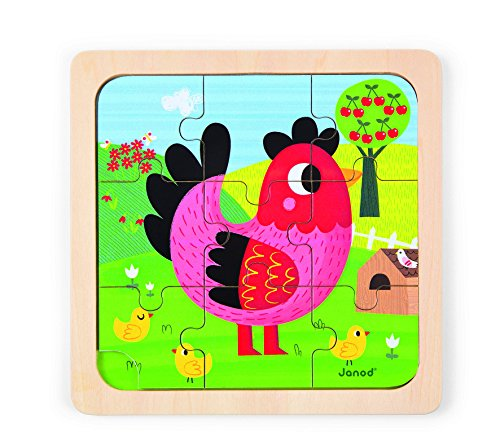 Janod Violette Chicken Puzzle