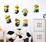 #2: Decals Design Wall Stickers Minions With Several Expressions Design For Kids Nursery School Decoration Vinyl (PVC Vinyl, 50 x 70 cm, Multicolor)