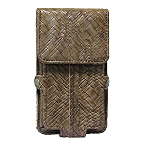 Jo Jo A6 Bali Series Leather Pouch Holster Case For Reliance Jio Lyf Wind 6 Brown