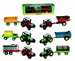 Model Toy Farm Tractor With Trailer-...
