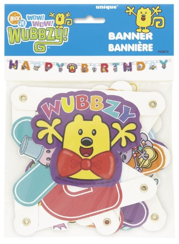Wubbzy Jointed Birthday Banner - Each - 1