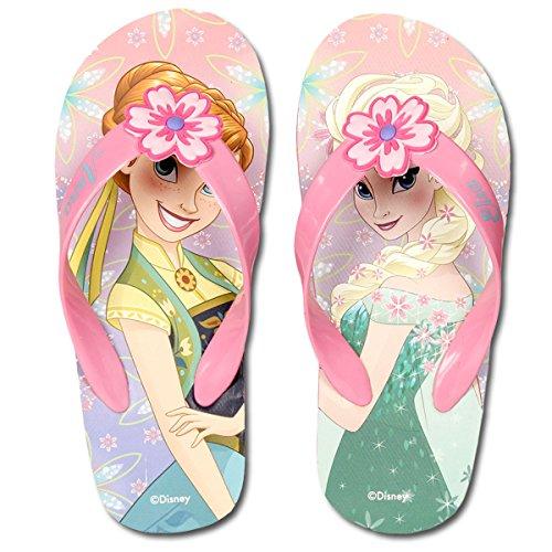 Frozen Disney - Infradito Flip Flop Ciabatte Mare Piscina - Bambina - Elsa e Anna - Novità Prodotto Originale 2300000515 [Rosa - 24]