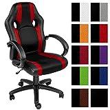 TecTake Bürostuhl Racing Chefsessel Sportsitz mit gepolsterten Armlehnen - diverse Farben -