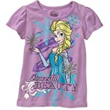 Disney Frozen Toddler Girl Elsa Powerful Beauty Short Sleeve T-Shirt