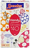 Spontex 40 Handy Disposable Latex Gloves (Pack of 4, Total 160 Gloves)