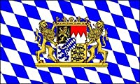 Bavarian Check Flag with Lion, 3 x 5 Feet by Oktoberfest Haus