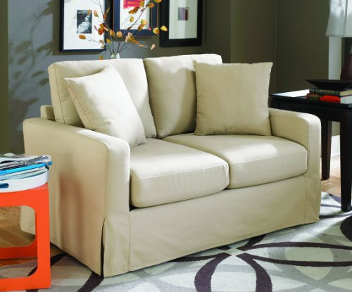 Sofab Lily Love Seat, Ivory