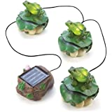 Gifts & Decor Solar Frog Trio Garden Path Lighting (Discontinued by Manufacturer)