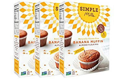 Simple Mills Banana Muffin Mix, 9 Ounce Box, 3 Count from Simple Mills INC