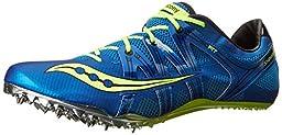 Saucony Men\'s Showdown Track Spike Racing Shoe, Royal/Citron, 12 M US
