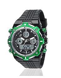 Yepme Mens Digital Watch - Green/Black -- YPMWATCH3295