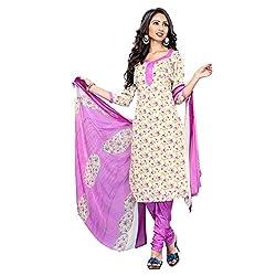 Triveni Women's Crape Salwar Kameez Dress Material (TSHCSSK6756B_Beige)